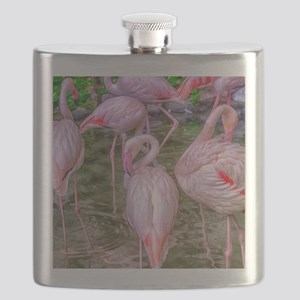 Pink Flamingos Flask